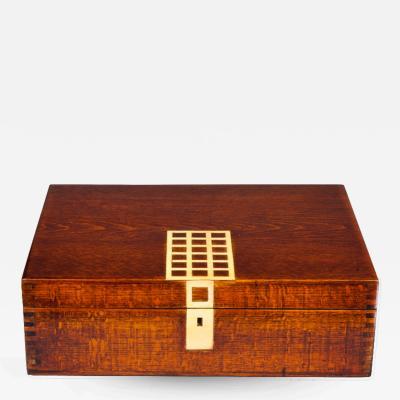 Josef Hoffmann Wooden Box by Josef Hoffmann Wiener Werkstatte ca 1910 Humidor
