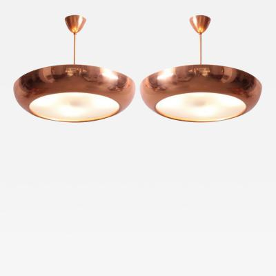 Josef Hurka 1930s Copper and Glass Pendant Lamp by Josef Hurka for Napako 1 of 2