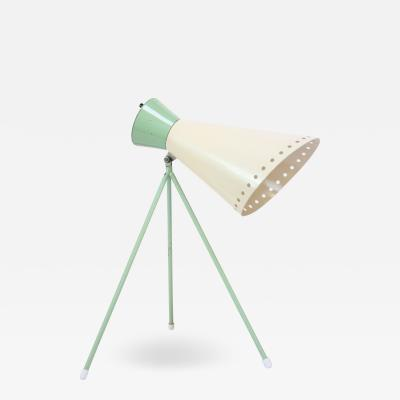 Josef Hurka Mint Green Tripod Table Lamp by Josef Hurka for Napako