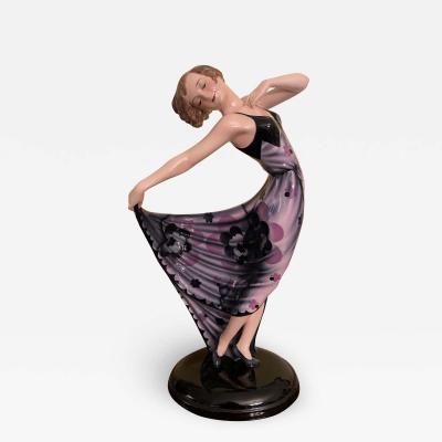 Josef Lorenzl A Goldscheider Art Deco Figurine by Josef Lorenzl