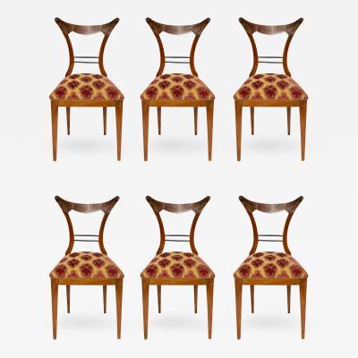 Josef Ulrich Danhauser Set of Six Biedermeier Dining Chairs Josef Danhauser Vienna