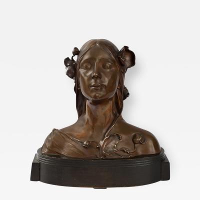 Josef fner Austrian Art Nouveau Bust of Ophelia by Josef fner