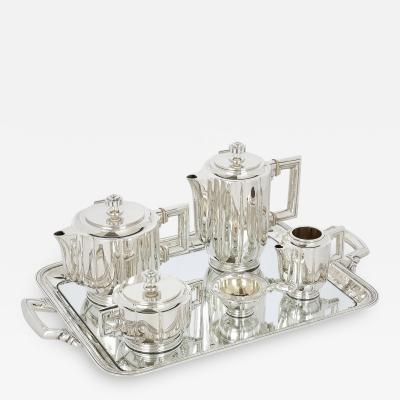 Josep Buxeda Art Deco Spanish silver coffee and tea set