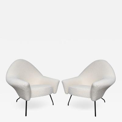 Joseph Andr Motte Pair of armchairs 770 model Joseph Andr Motte for Steiner Circa 1958