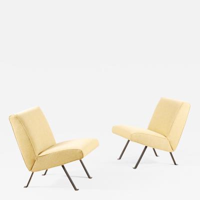 Joseph Andre Motte Joseph Andr Motte Pair of Lounge Chairs Model 740 for Steiner 1957