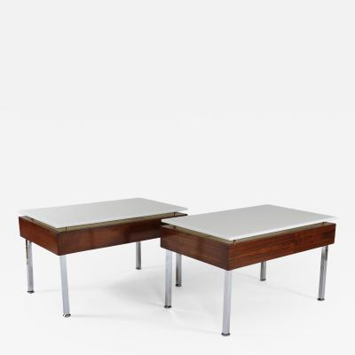 Joseph Andre Motte Pair of Illuminated tables