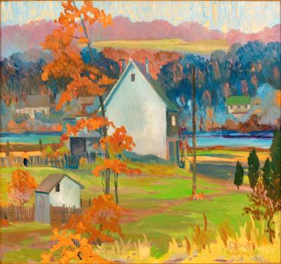 Joseph Barrett Autumn on the Delaware