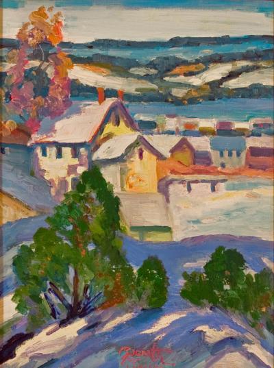 Joseph Barrett River View Above River Road