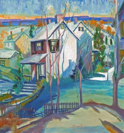 Joseph Barrett Snowbound Village