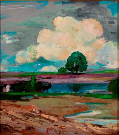 Joseph Barrett Summer Landscape Buckingham