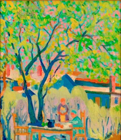 Joseph Barrett Under Blossoming Tree Lahaska