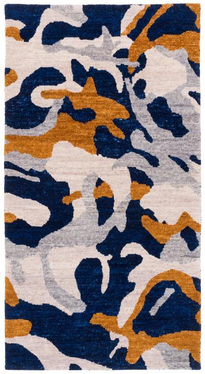 Joseph Carini Carini Contemporary Camo Wool Rug 3 6