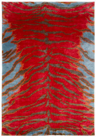 Joseph Carini Carini Contemporary Silk Tiger Rug 6 9