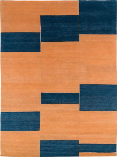 Joseph Carini Contemporary Original Design Terrain Wool Area Rug