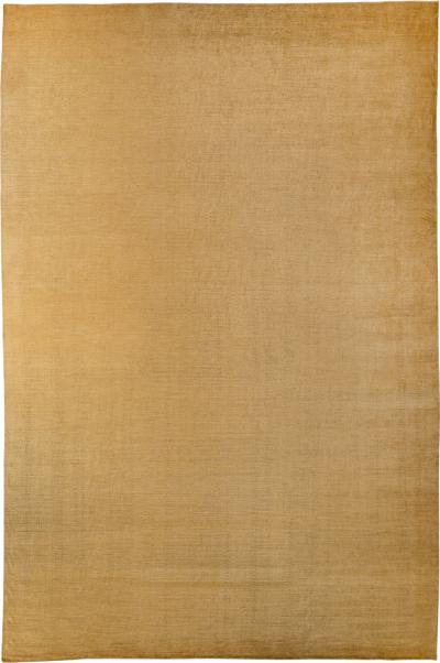 Joseph Carini Solid Gold Handwoven Mohair Area Rug by Carini