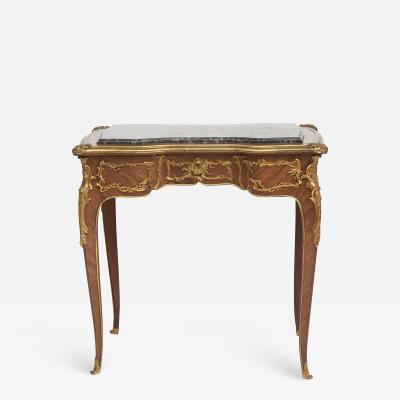 Joseph Emmanuel Zwiener FRENCH LOUIS XV STYLE SIDE TABLE ATTRIBUTED TO ZWIENER