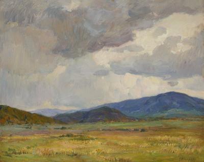 Joseph Henry Sharp Storm Clouds Taos Landscape