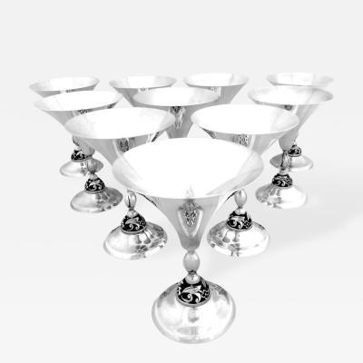 Joseph La Paglia 8 Sterling Champagnes by La Paglia