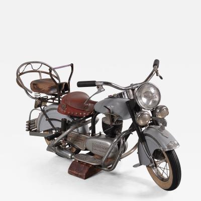 Joseph Lenaerts Rare Lenaerts Carousel Motorbike Belgium 1950s