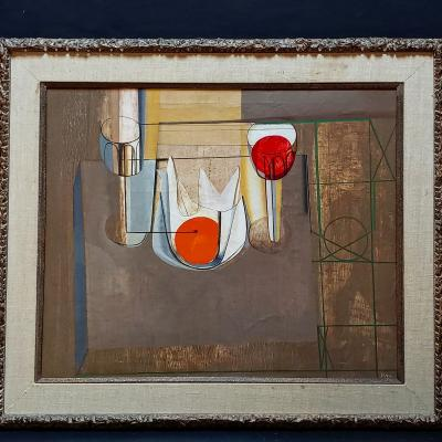 Joseph Mellor Hanson Joseph Mellor Hanson Still Life With An Orange Oil on Canvas 1956