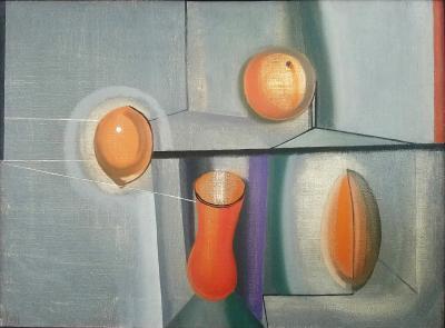Joseph Mellor Hanson Still Life Oil on Canvas by Joseph Mellor Hanson 1961