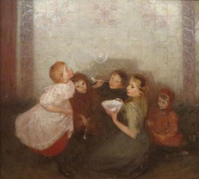 Joseph Morris Raphael Blowing Bubbles