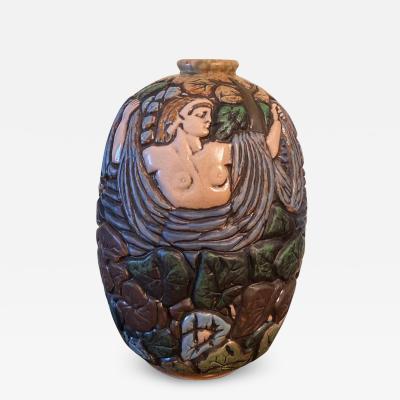 Joseph Mougin Mougin Nancy Stoneware Vase