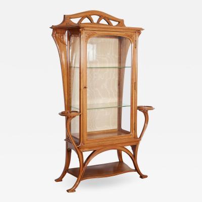 Joseph Paul Anthony Selmersheim French Art Nouveau Walnut Vitrine by Tony Selmersheim