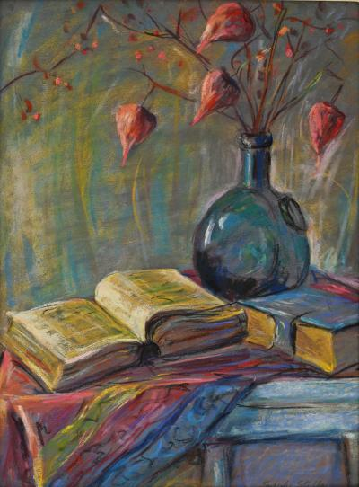 Joseph Stella Still Life of Books and Chinese