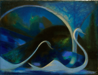 Joseph Stella Swans Night