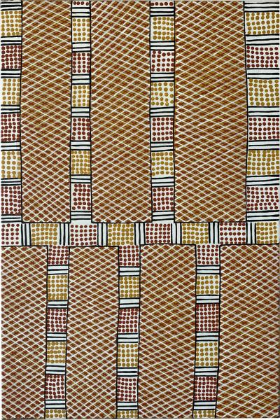 Josephine Burak An Australian Aboriginal Painting Of Body Paint Design