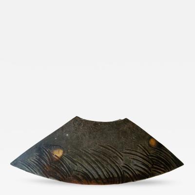 Josh Copus Wood Fired Wild Clay Wedge Shaped Vessel by Josh Copus