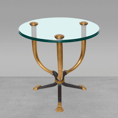 Juan Montoya A Brass Bronze and Patinated Bronze Gueridon Table attributed to Juan Montoya