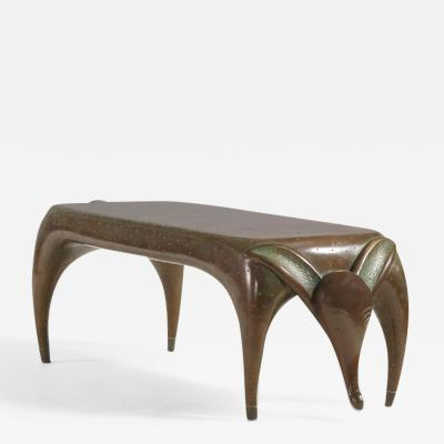 Judy Kensley Mckie Timid Dog Bench Table