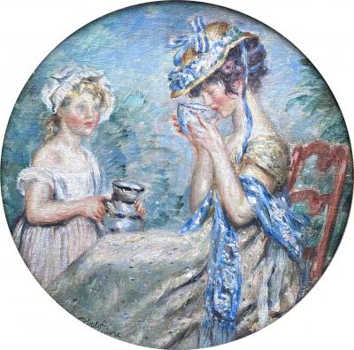 Jules Abel Faivre Afternoon Tea