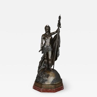 Jules Bertin Large Napoleon III period bronze sculpture by Jules Bertin