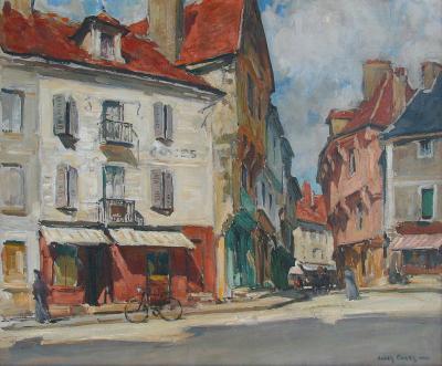 Jules Eugene Pages Place de lEglise a Samur