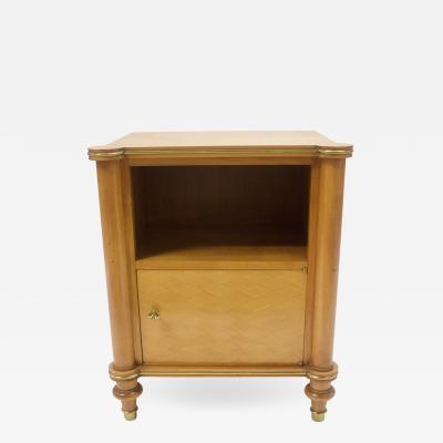 Jules Leleu A Sycamore Side Cabinet Signed Jules Leleu