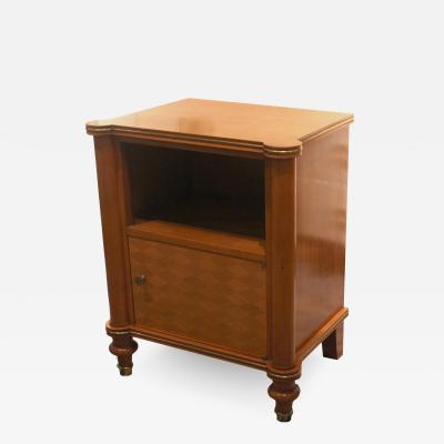 Jules Leleu A Sycamore Side Cabinet by Jules Leleu