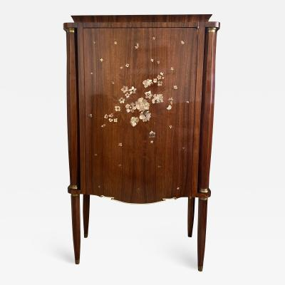 Jules Leleu Art Deco Mother of Pearl Inlaid Rosewood Cabinet