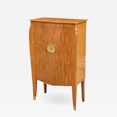 Jules Leleu Beautiful Mahogany Cabinet by Jules Leleu