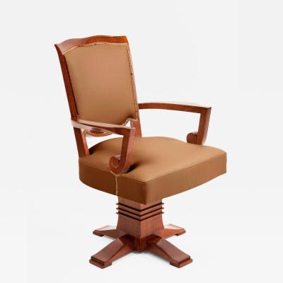 Jules Leleu Desk Chair by Jules Leleu 1883 1961 France Art Moderne ca 1946