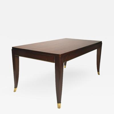 Jules Leleu Elegant dining or library table in rosewood by Jules Leleu