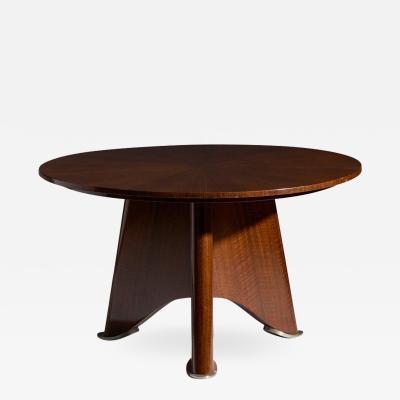Jules Leleu Elegant rosewood coffee table attributed to Jules Leleu