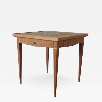 Jules Leleu FINE FRENCH ART DECO PALISANDER GAME TABLE BY JULES LELEU