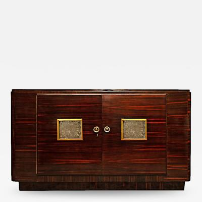 Jules Leleu French Art D co Macassar Sideboard Attributed to Jules Leleu