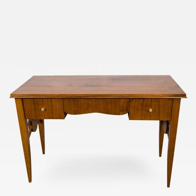 Jules Leleu French Art Deco Mahogany Desk by Jules Leleu