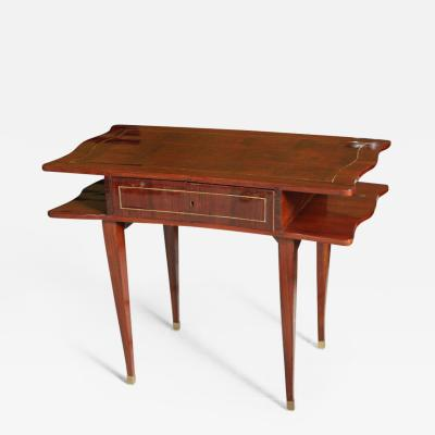 Jules Leleu French Art Deco Mahogany Writing Table Jules Leleu