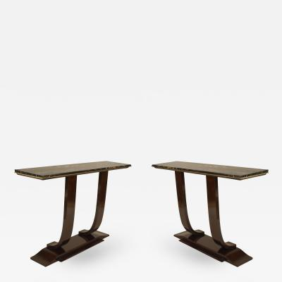 Jules Leleu French Art Deco Rosewood Console Table