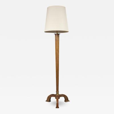 Jules Leleu French Art Deco Rosewood Floor Lamp